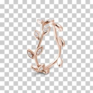 Earring Silver Gold Eternity Ring PNG