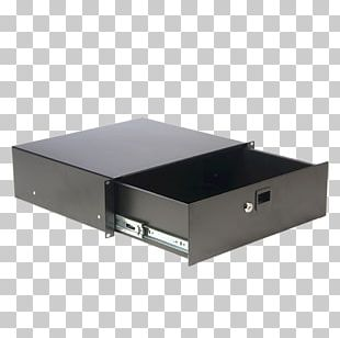 Drawer 19-inch Rack Lock Desk Box PNG