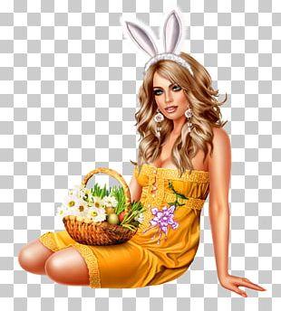 Easter Bunny Woman Christmas PNG