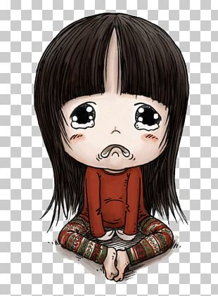 Cartoon Crying Girl PNG