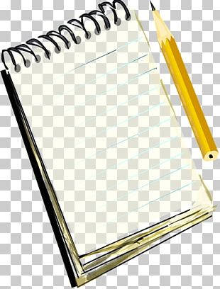 Notebook And Pencil PNG