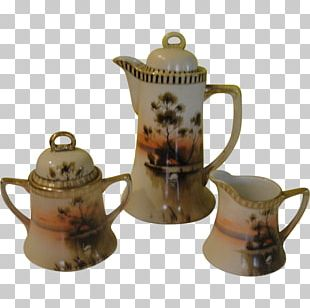Kettle Coffee Cup Ceramic Pottery Teapot PNG