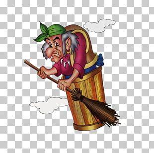 Baba Yaga Fairy Tale Animaatio Помело PNG