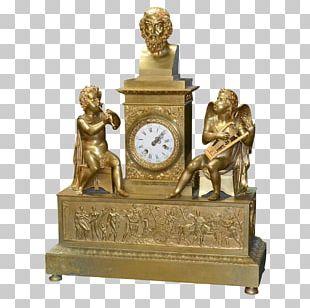 Mantel Clock Antique Fireplace Mantel Porcelain PNG