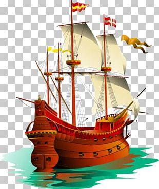 Galleon Sailing Ship Piracy PNG