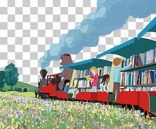 Train Book Illustration Library Illustration PNG