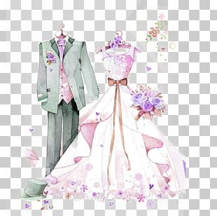 Wedding Dress Marriage Formal Wear Bride PNG
