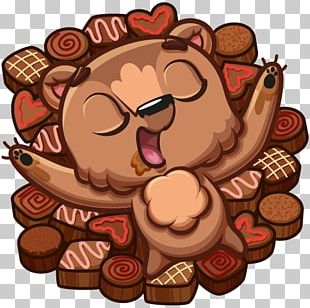Chocolate Brownie VKontakte Sticker Personal Message PNG