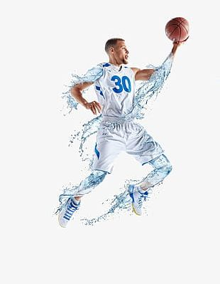 Basketball Players And Water Elements PNG