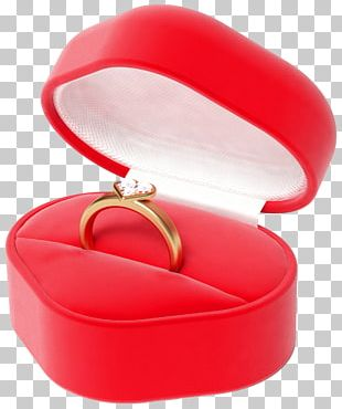 Heart Engagement Ring Box Diamond PNG