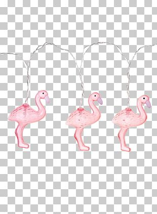 Lighting Flamingo Christmas Lights Lamp PNG