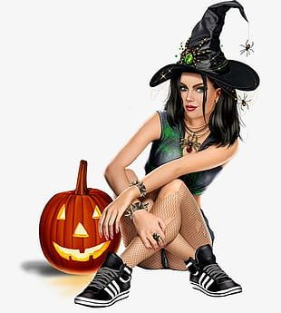 Halloween Pumpkin Witch Smiley Creative PNG