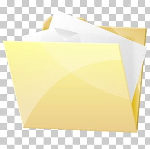 Paper Angle Square Yellow PNG