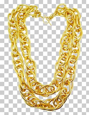 Jewellery Chain Necklace Gold PNG