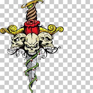 T-shirt Skull Illustration PNG