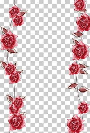 Pink Roses Border Background PNG