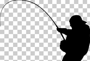 Fishing Tackle Silhouette Angling Walleye PNG