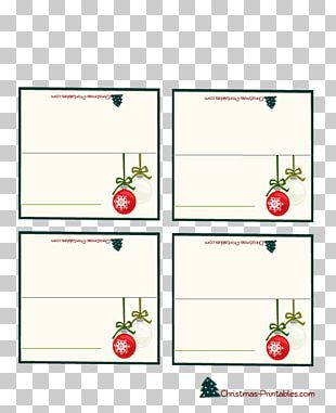 Christmas Gift Christmas Gift Place Cards PNG