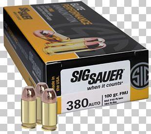 SIG Sauer 10mm Auto Full Metal Jacket Bullet .357 SIG Firearm PNG