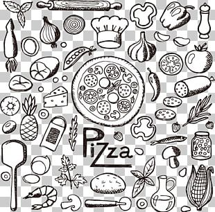 Pizza Italian Cuisine Fast Food Drawing PNG