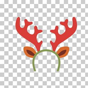 Rudolph Reindeer Moose Antler PNG