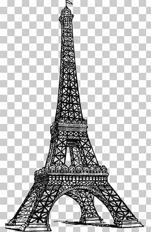 Eiffel Tower Drawing Line Art PNG