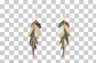 Earring Bird Feather Gold Jewellery PNG