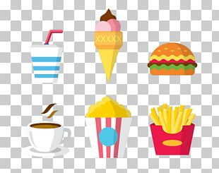 Ice Cream Cone French Fries Hamburger Fast Food PNG