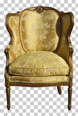 Club Chair Antique Wing Chair Slipcover PNG