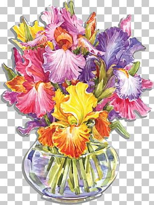 Cut Flowers Flower Bouquet Floral Design Irises PNG