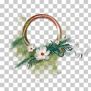 Green Fresh Flower Circle Decorative Pattern PNG
