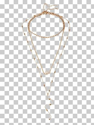 Locket Necklace Body Jewellery Chain PNG