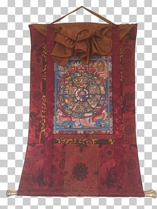 Tibetan Buddhism Thangka Standing Bell Prayer Flag PNG