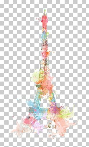 Eiffel Tower Watercolor Painting Drawing PNG
