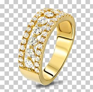 Jewellery Wedding Ring Gold Diamond PNG