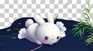 Rabbit Mid-Autumn Festival Chinese New Year PNG