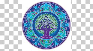 Earth Mandala Sticker Window Tibetan Buddhism PNG