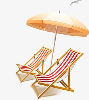 Summer Tents Sun Loungers PNG