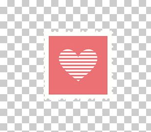 Valentines Day Postage Stamp Logo PNG