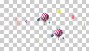 Hot Air Balloon Pattern PNG