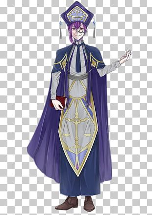 Robe Costume Dress Character Purple PNG