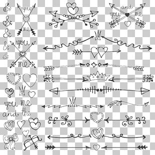 Wedding Invitation Arrow Drawing Valentines Day PNG