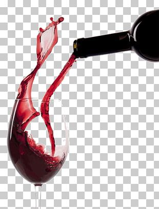 Pouring Red Wine Glass PNG