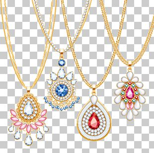 Necklace Jewellery Chain Gold Pendant PNG