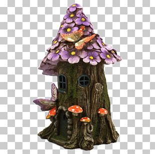 House Flower Garden Fairy Christmas Tree PNG