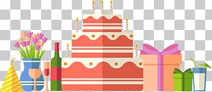 Confetti Cake Party Birthday Balloon PNG