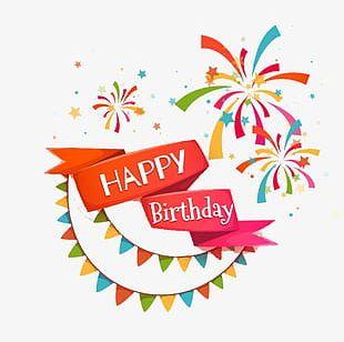 Flat Cartoon Birthday Celebration PNG