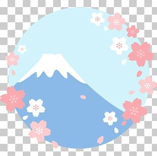 Mount Fuji Lake Kawaguchi Cherry Blossom Photography PNG