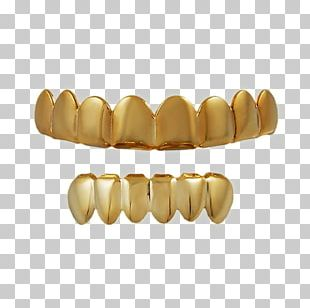 Grill Jewellery Gold Teeth Tooth PNG