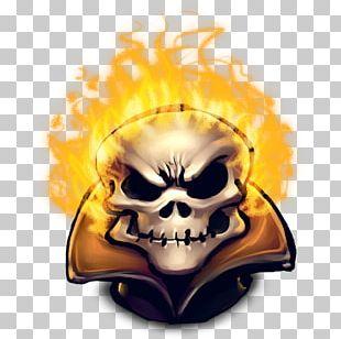 Skull Fictional Character Computer Yellow Illustration PNG
